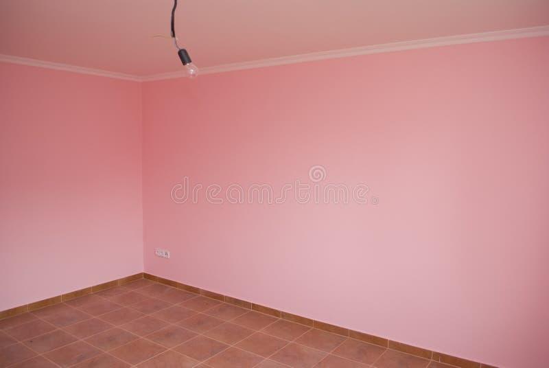 Stanza rosa vuota fotografia stock