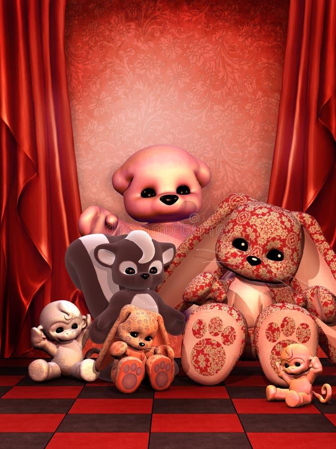 Stanza rossa con i giocattoli