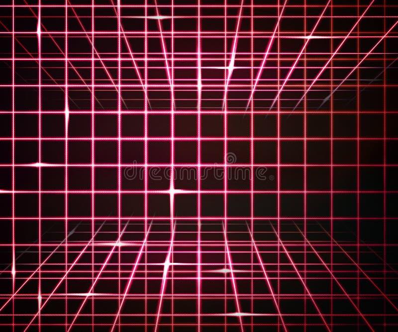 Stanza rossa del laser fotografia stock