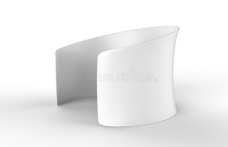 Stanza rotonda premio in bianco della fiera commerciale di conferenza del tessuto di tensione 3d rendono l'illustrazione illustrazione vettoriale