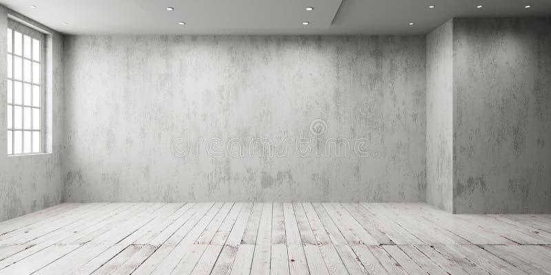 Stanza vuota bianca illustrazione di stock
