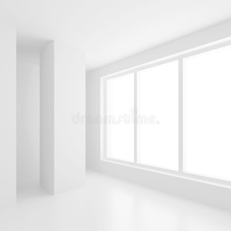 Stanza vuota bianca illustrazione vettoriale