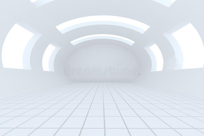 Stanza vuota bianca astratta illustrazione di stock