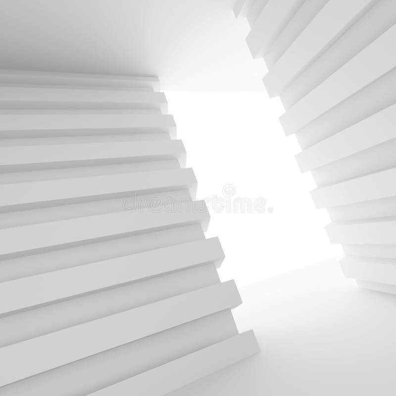 Stanza vuota bianca con la finestra illustrazione vettoriale