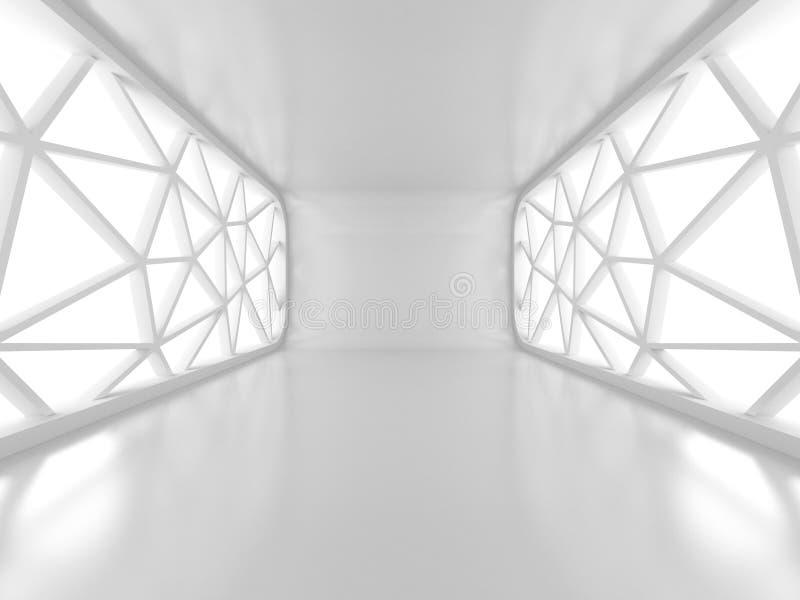 Stanza vuota con due grande Windows futuristico illustrazione vettoriale