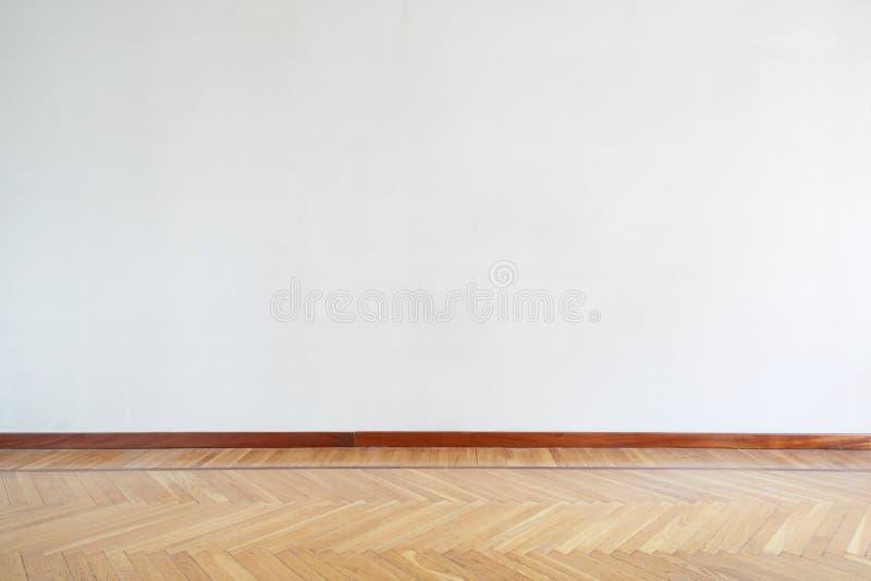 Stanza vuota con il pavimento di legno, parquet fotografia stock libera da diritti