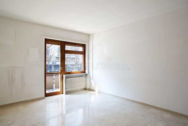 Stanza vuota con il pavimento di marmo fotografia stock