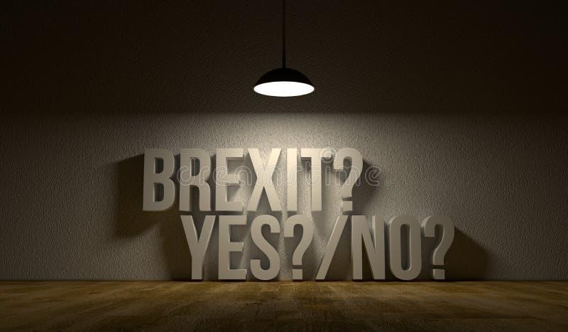 Stanza vuota con il testo: Brexit sì o no royalty illustrazione gratis
