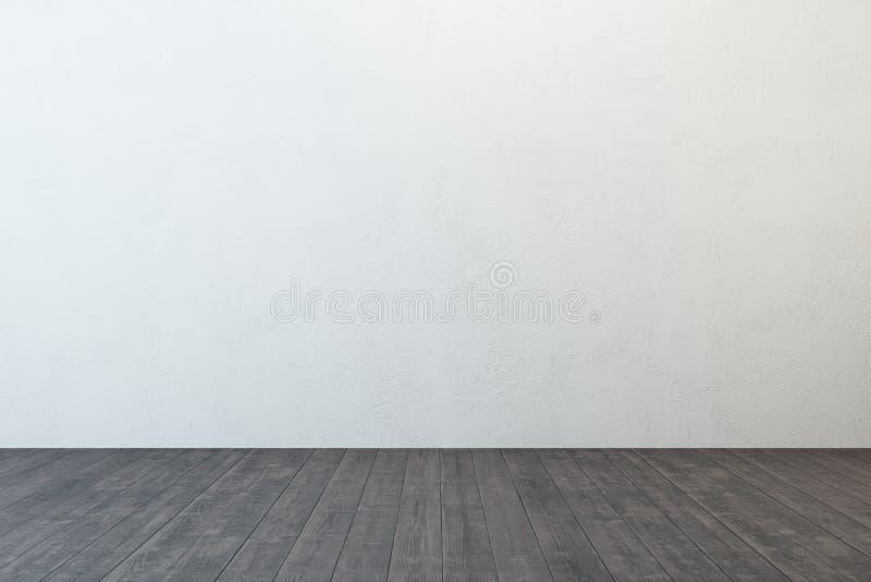 Stanza vuota con la parete bianca fotografia stock