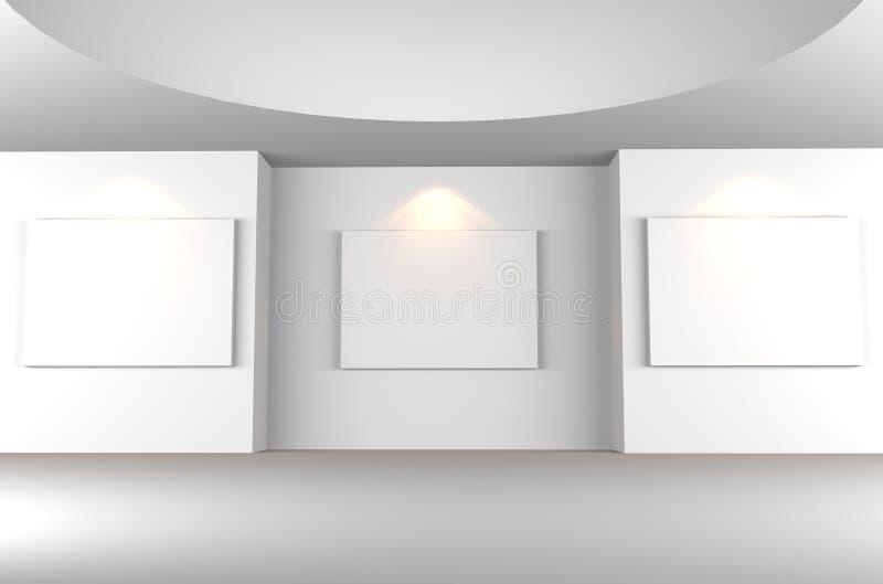 Stanza vuota della galleria illustrazione di stock