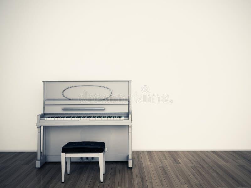 Stanza vuota di Pianio illustrazione vettoriale