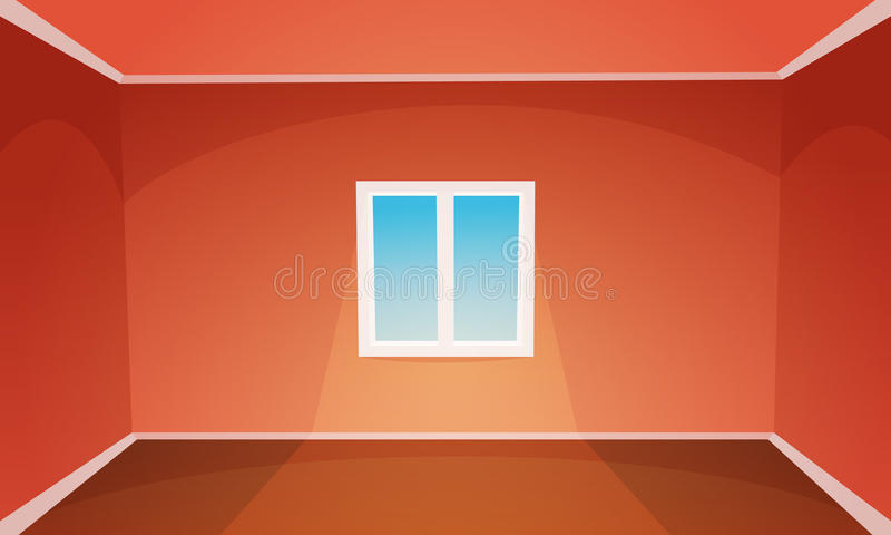 Stanza vuota rossa illustrazione di stock
