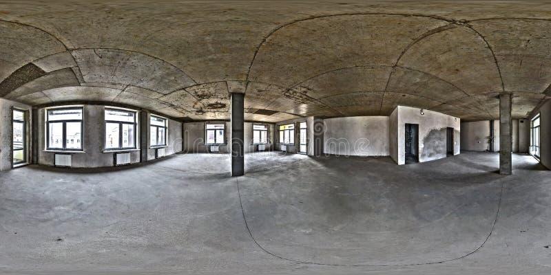 Stanza vuota senza riparazione panorama sferico senza cuciture completo di hdri 360 gradi nell'interno dell'ufficio bianco della  fotografia stock