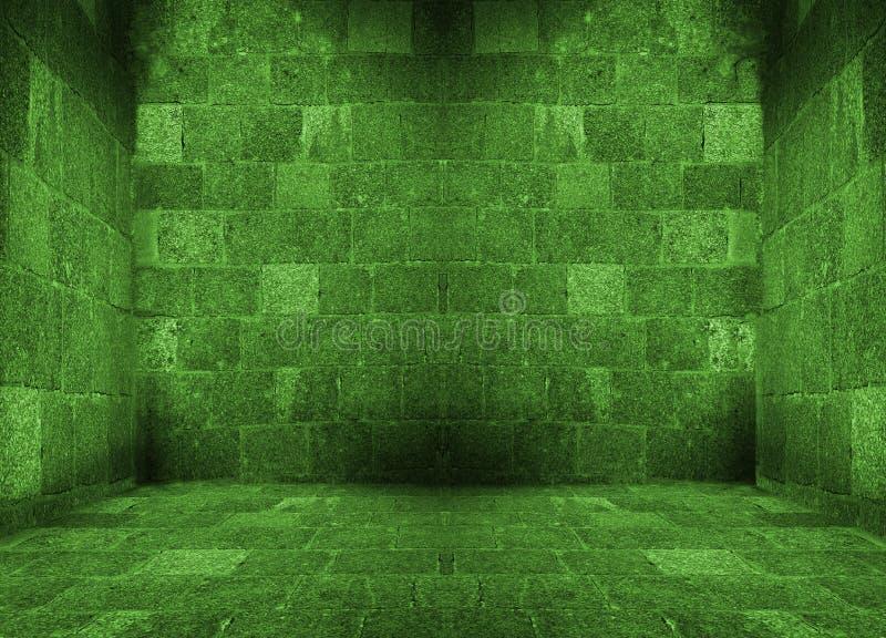Stanza vuota verde scuro illustrazione di stock