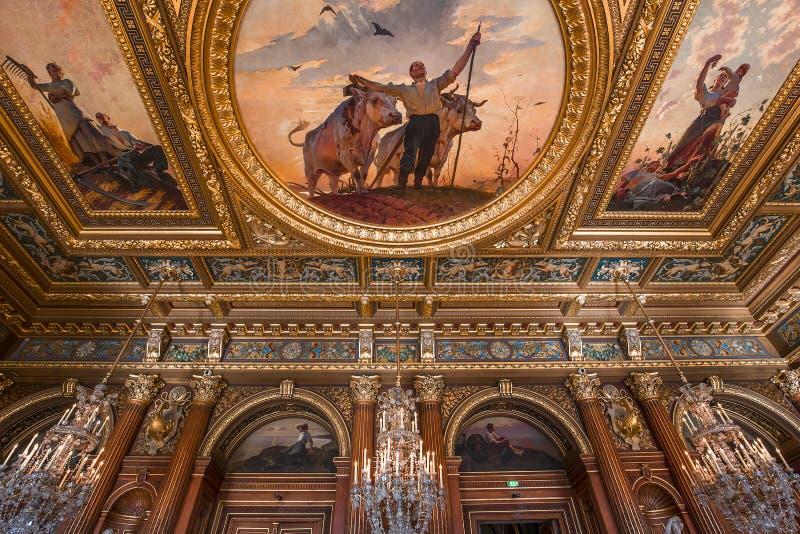 Stanze di ricezione del comune, Parigi, Francia fotografie stock