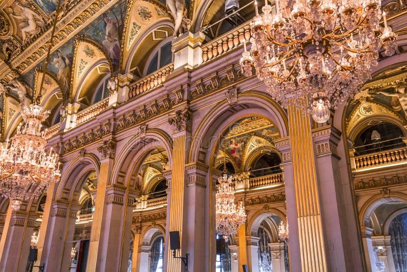 Stanze di ricezione del comune, Parigi, Francia fotografia stock libera da diritti