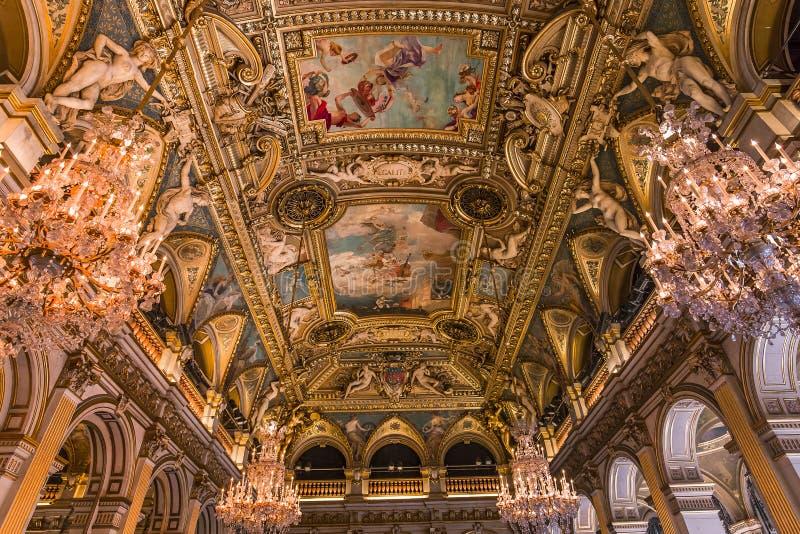 Stanze di ricezione del comune, Parigi, Francia immagini stock