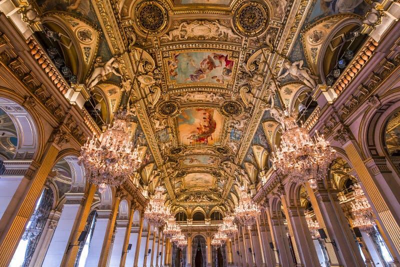 Stanze di ricezione del comune, Parigi, Francia fotografie stock libere da diritti