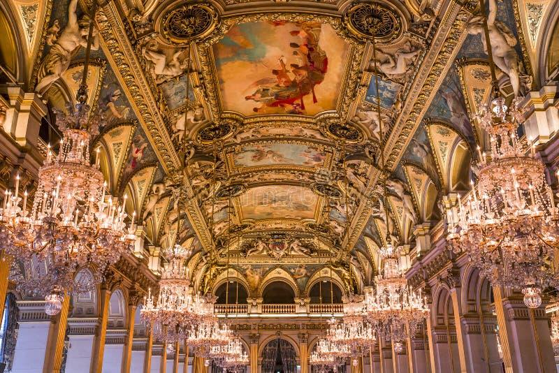 Stanze di ricezione del comune, Parigi, Francia fotografia stock