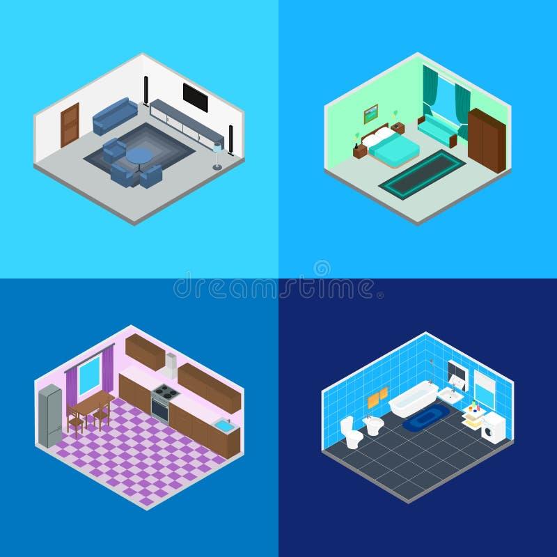 Stanze interne nella casa illustrazione vettoriale