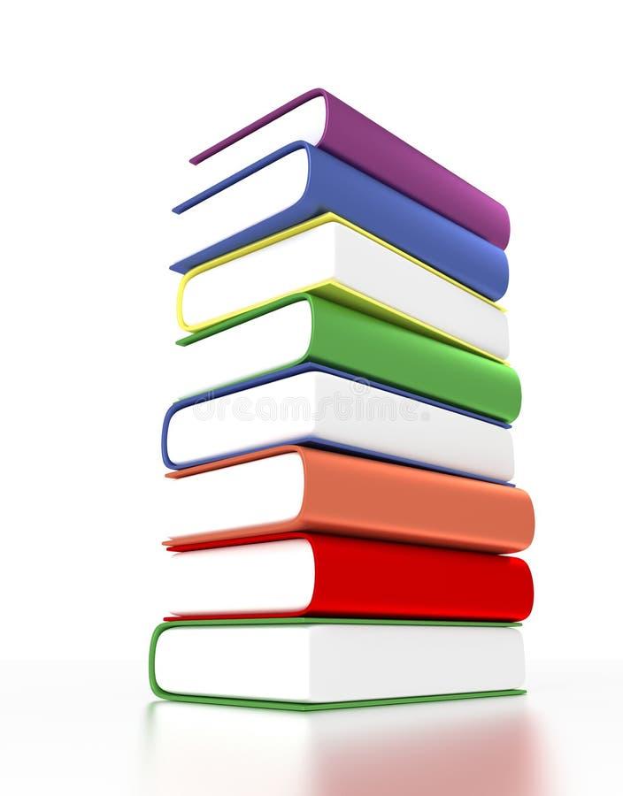 Stapel 3d Der Bücher Mit Verschiedenen Farben Stock Abbildung ...