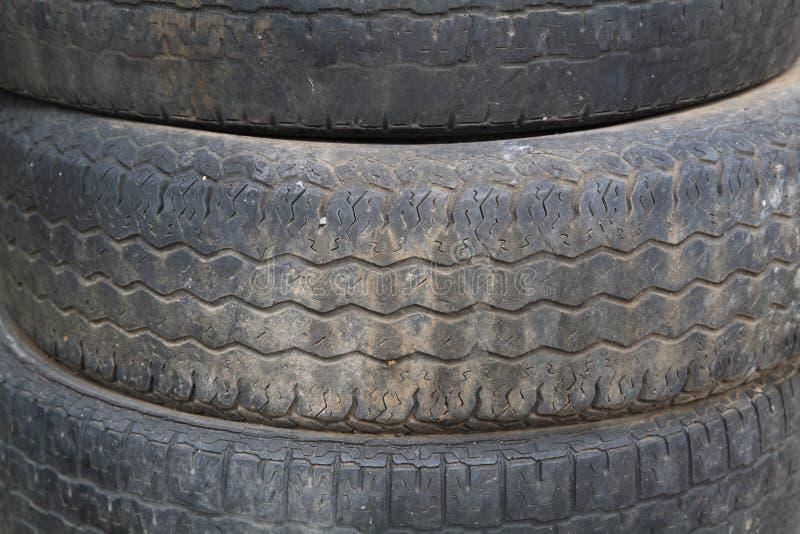 Stapel alte Reifenbeschaffenheit stockfoto