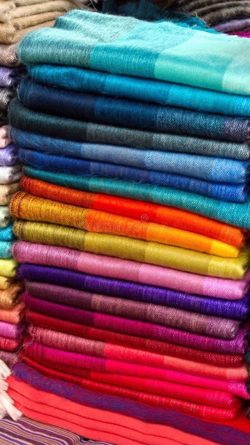 Stapel av scarves royaltyfria foton