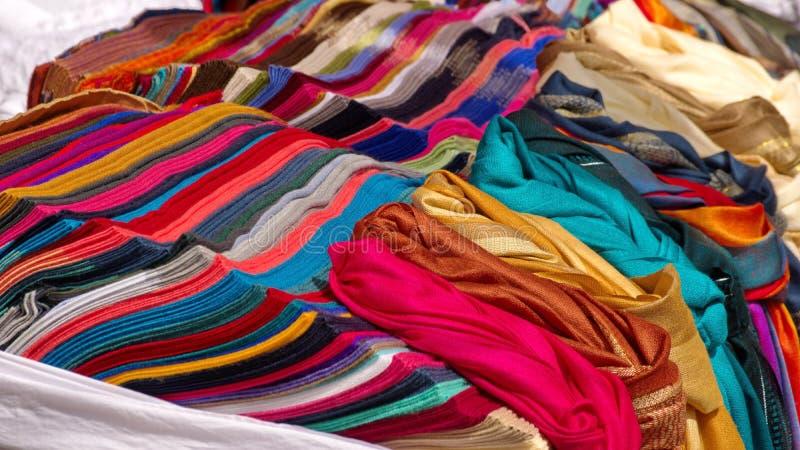Stapel av scarves arkivbild
