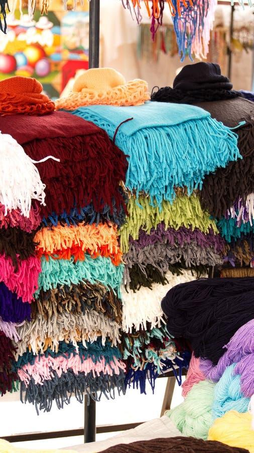 Stapel av scarves fotografering för bildbyråer