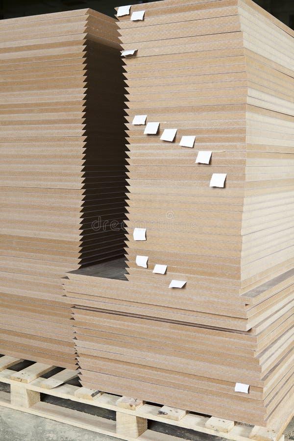 Stapel av trä arkivfoton