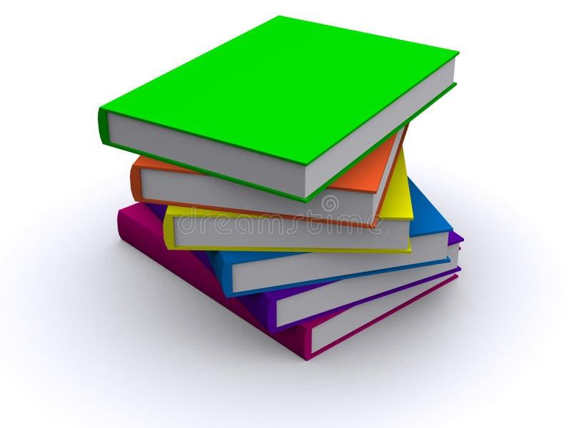 Stapel Bücher 3d stock abbildung