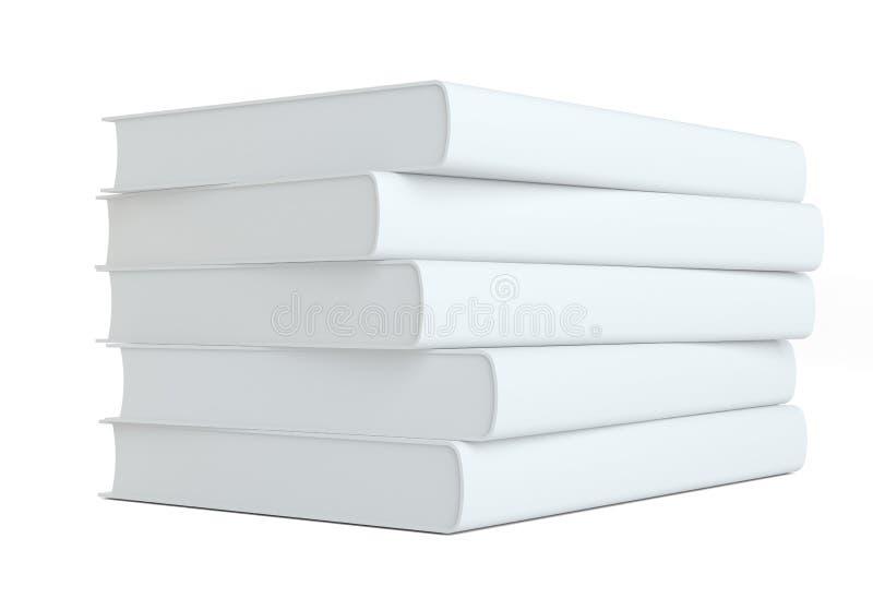 Stapel Bücher auf weißem Hintergrund stockfoto