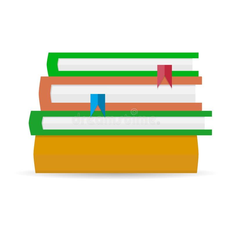 Stapel Bücher flach vektor abbildung