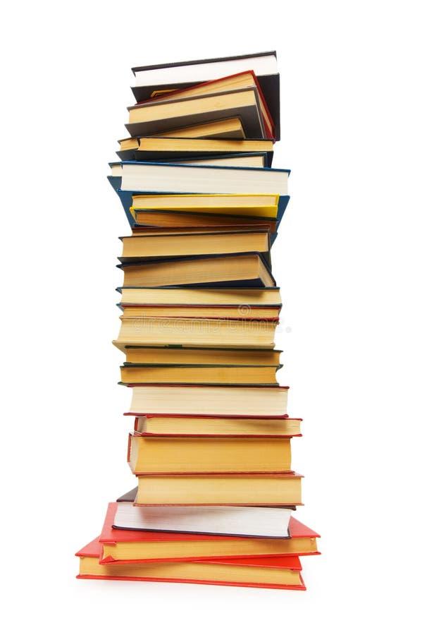 Stapel Bücher getrennt stockbilder