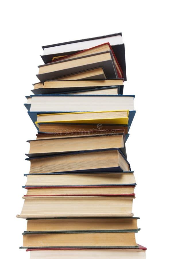 Stapel Bücher getrennt lizenzfreies stockbild