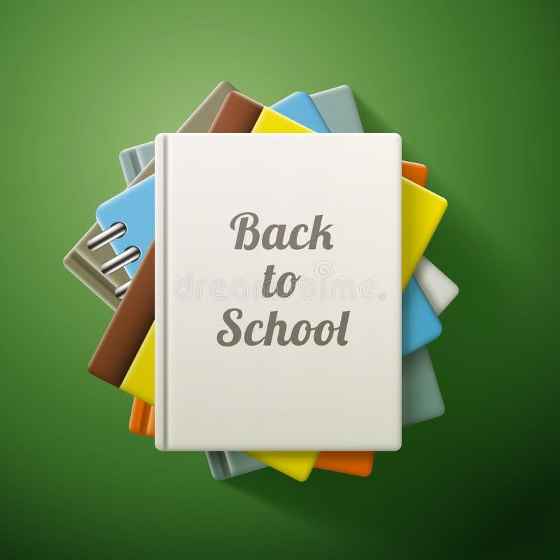 Stapel Bücher, zurück zu Schule lizenzfreie abbildung