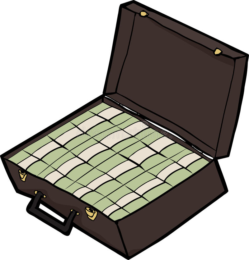 Koffer Bargeld stock abbildung