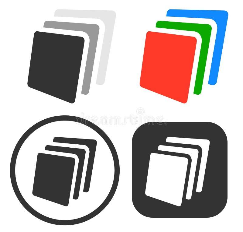 Stapel, Blätter Papier Ikone/Symbolsatz lizenzfreie abbildung