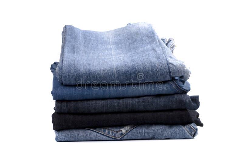 Stapel Blue Jeans lizenzfreies stockfoto