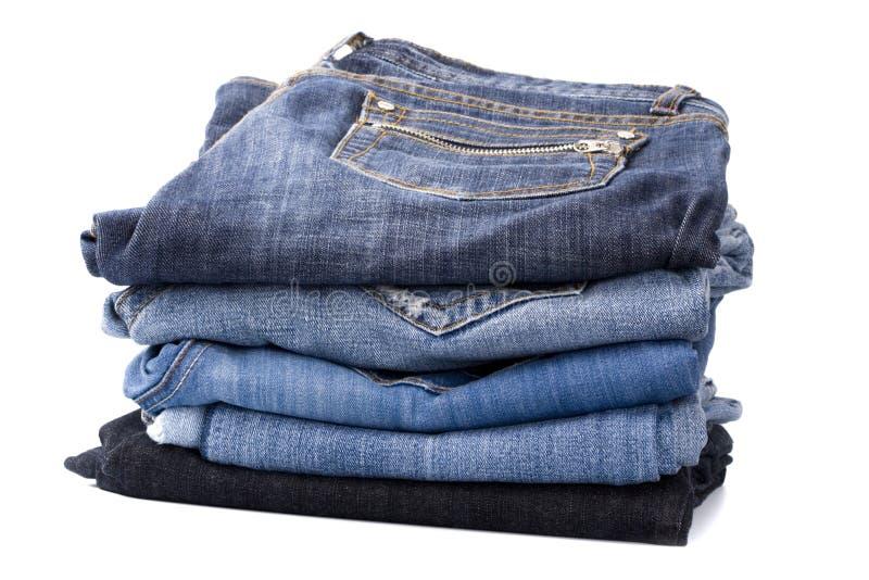 Stapel Blue Jeans stockbild