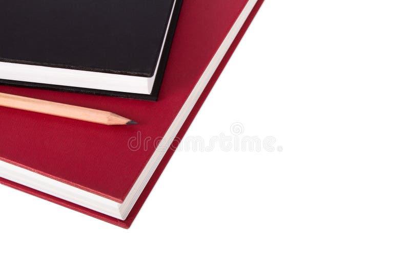 Stapel Boeken met Potlood royalty-vrije stock afbeelding