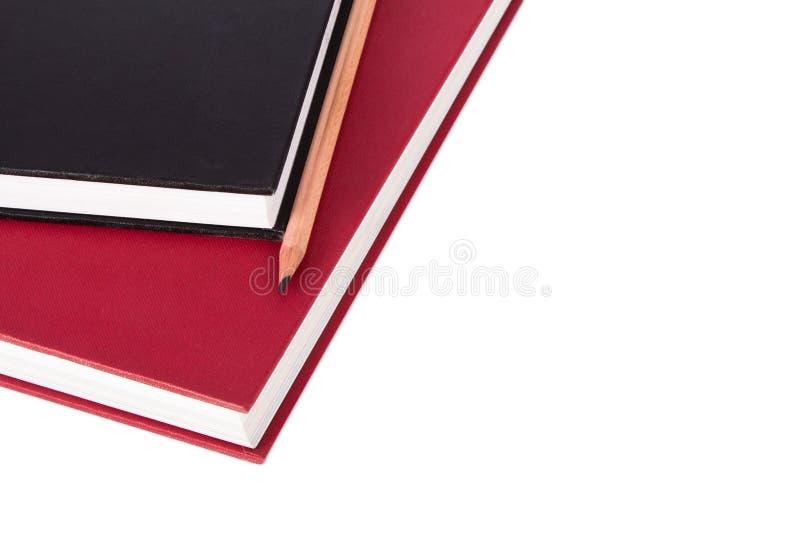 Stapel Boeken met Potlood royalty-vrije stock afbeeldingen