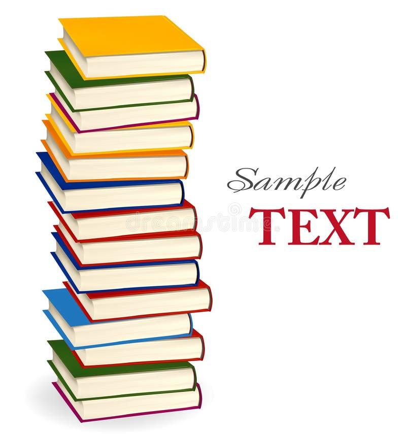Stapel bunte Bücher. Vektor. lizenzfreie abbildung