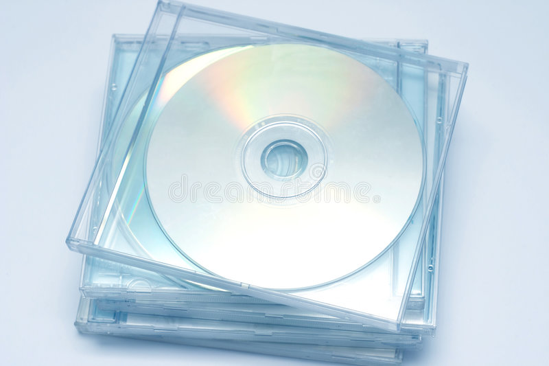 Stapel CD stockfoto