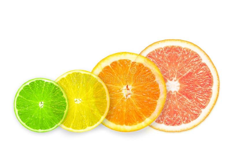 Stapel citrusvruchtenplakken. royalty-vrije stock fotografie
