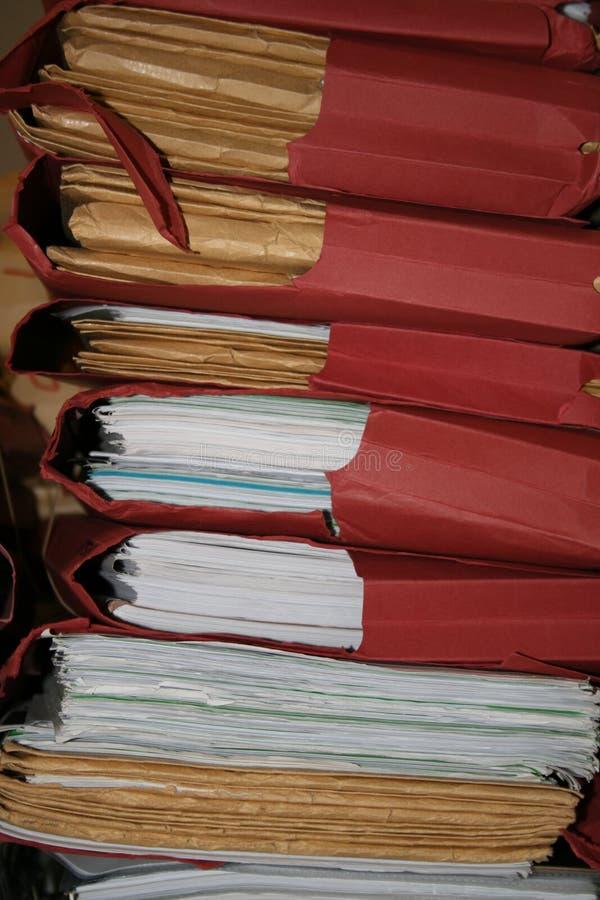 Stapel Dateien stockfotografie