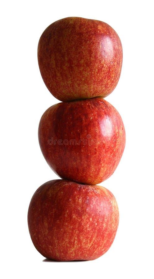 Stapel der Äpfel stockbild