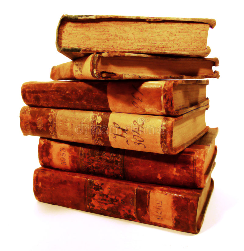 Stapel der alten Bücher stockfoto