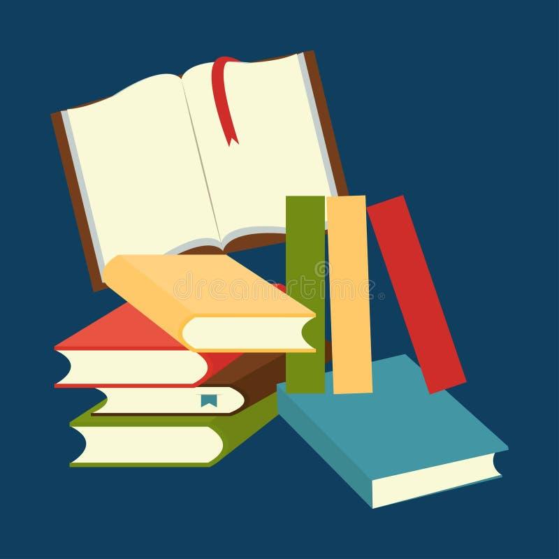 Stapel der Bücher lizenzfreie abbildung