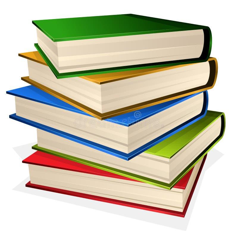 Stapel der Bücher getrennt auf Weiß stock abbildung